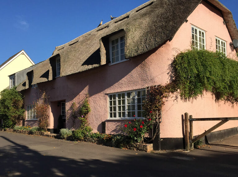 Pink House in Dunster