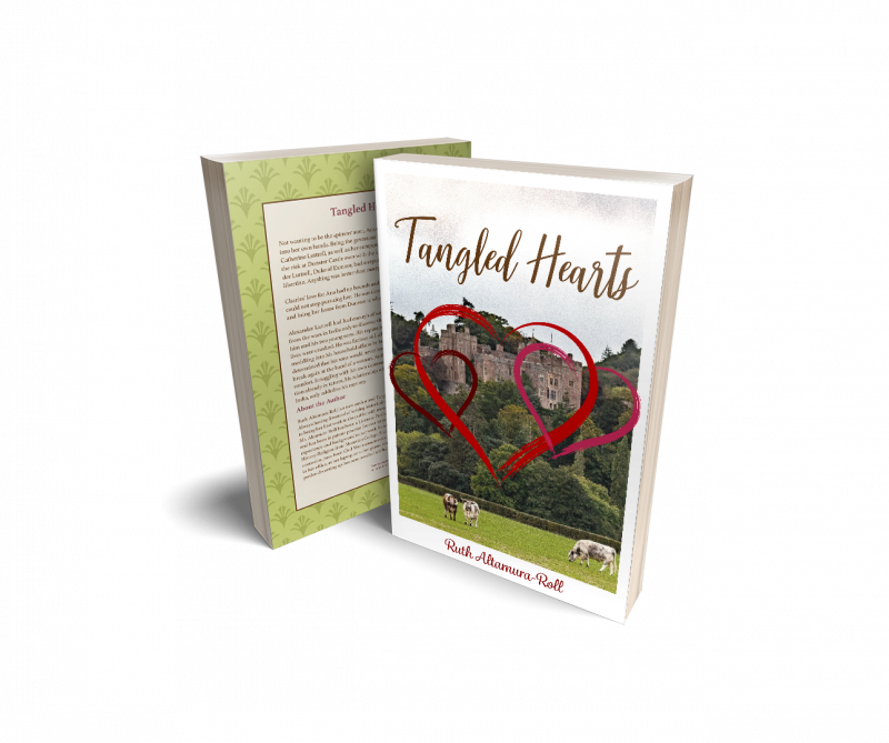Front and back covers of the Tangled Hearts novel